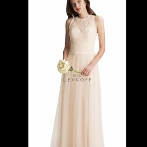 Bill Levkoff gown in champagne, never worn